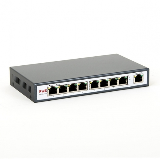 switch PoE 8level FEPS-1908 (8xFE PoE-af,1xUplink, 130W) (FEPS-1908) | 8level