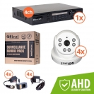 Surveillance kit (DVR 1080P 4-ch + 4x AHD int cam) (KIT-DVR4-1080P4I7204)