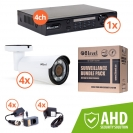 Surveillance kit (DVR 1080P 4-ch + 4x AHD ext cam) (KIT-DVR4-4E1080-VF42)