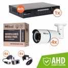 Surveillance kit (DVR 1080P 4-ch + 4x AHD ext cam) (KIT-DVR4-4E720-VF41)