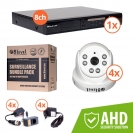 Surveillance kit (DVR 1080P 8-ch + 4x AHD int cam) (KIT-DVR8-4I1080-363)